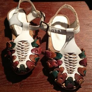 Kids Leather strapped sandals